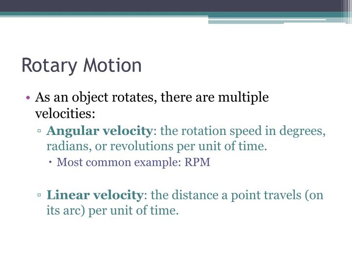 Rotary Motion