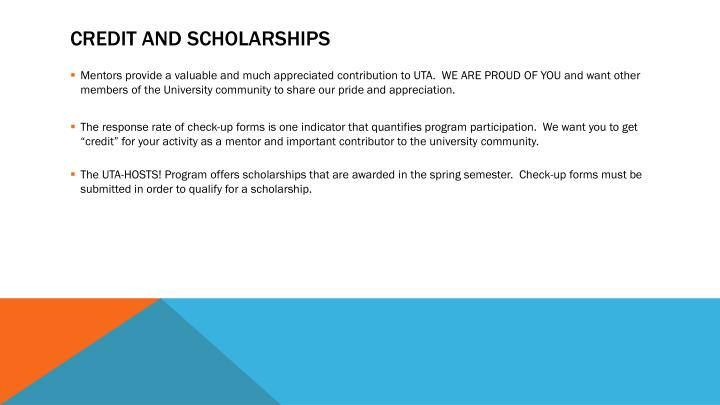 Credit and Scholarships