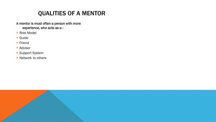 Qualities of a Mentor