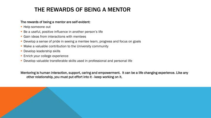 The Rewards of Being a Mentor
