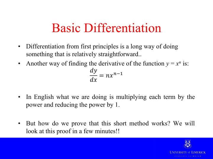 Basic Differentiation