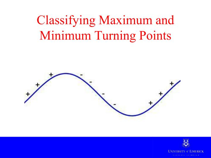 Classifying Maximum and Minimum Turning Points