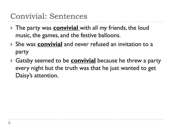 Convivial: Sentences