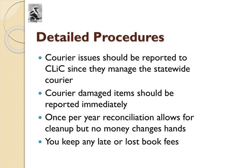 Detailed Procedures