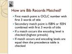 how are bib records matched