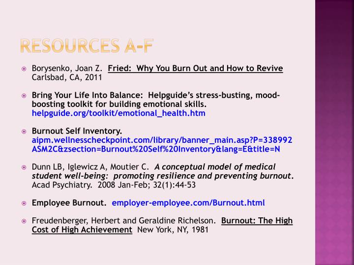 causes and prevention of burnout November 1989, vol 50, no 5 aorn journal burnout symptoms, causes, prevention vicki a moss, rn it's 530 am the alarm has been buzzing for several minutes, but you pull the covers over your head to drown out the sound after eight hours of sleep you still feel exhausted and unable to face another day in the or.