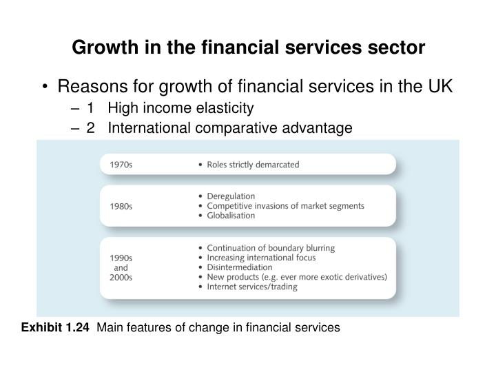 Growth in the financial services sector
