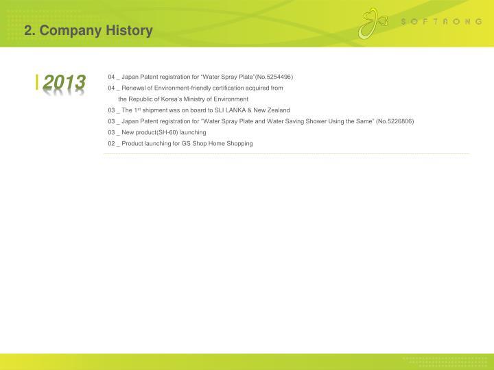 2. Company History