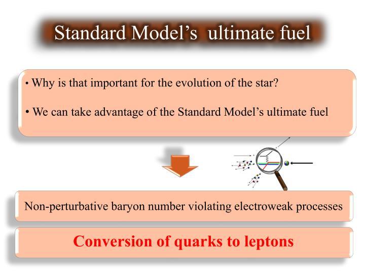 Standard Model's  ultimate fuel