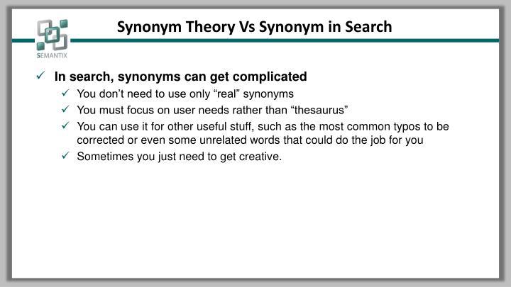 Synonym Theory