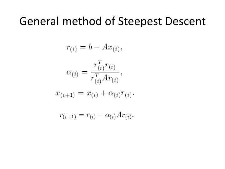 General method of Steepest Descent