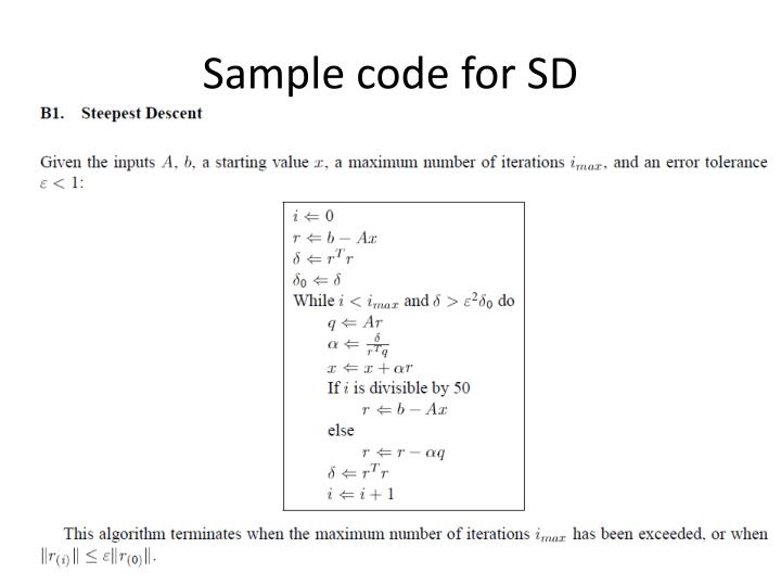 Sample code for SD