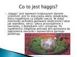 co to jest haggis