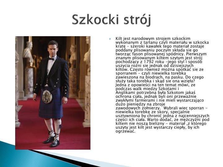 Szkocki strój