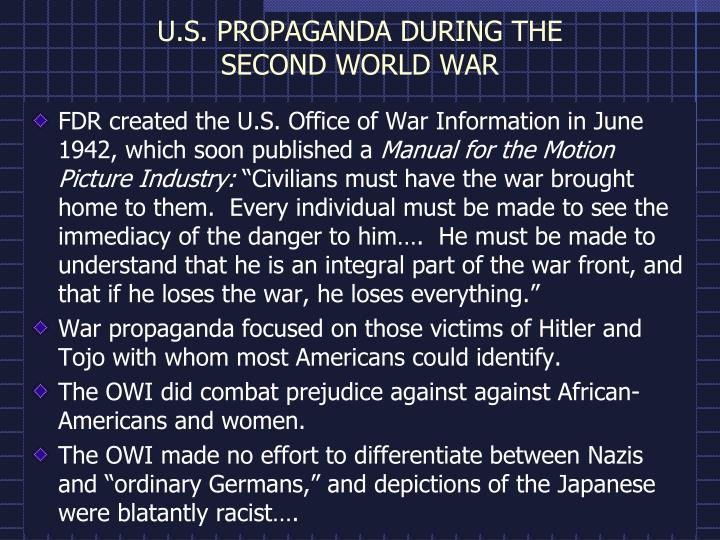 U s propaganda during the second world war
