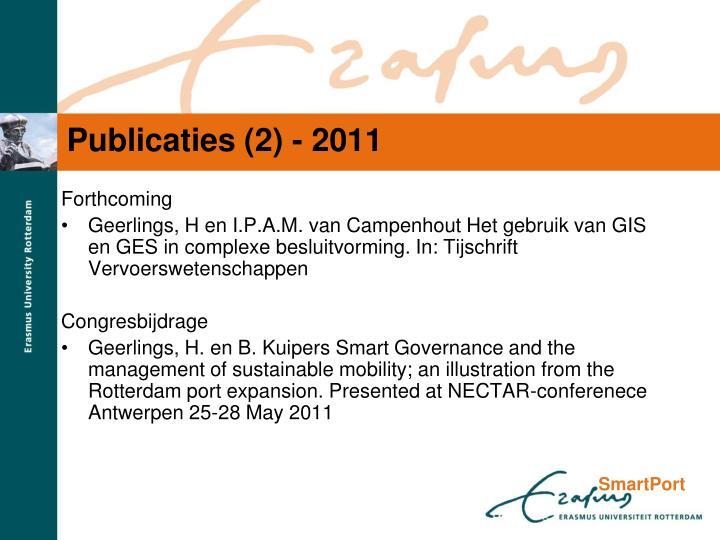 Publicaties (2) - 2011