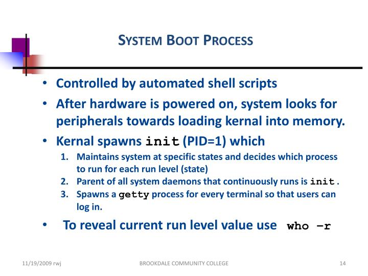 System Boot Process