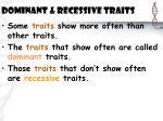dominant recessive traits