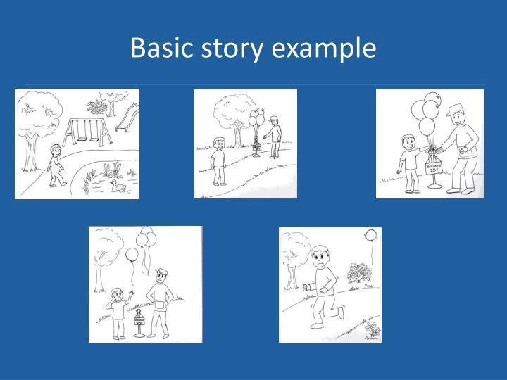 Basic story example