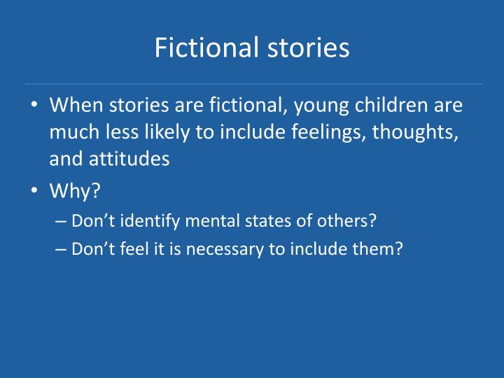 Fictional stories