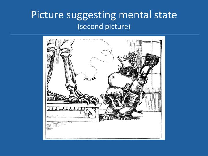 Picture suggesting mental