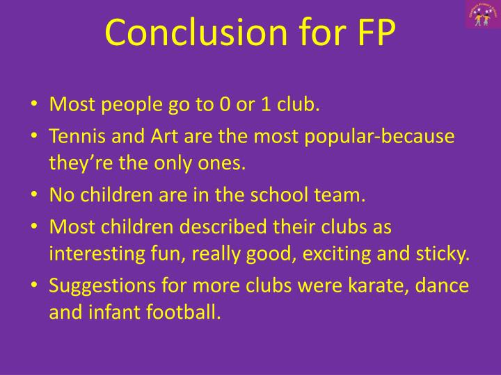 Conclusion for FP