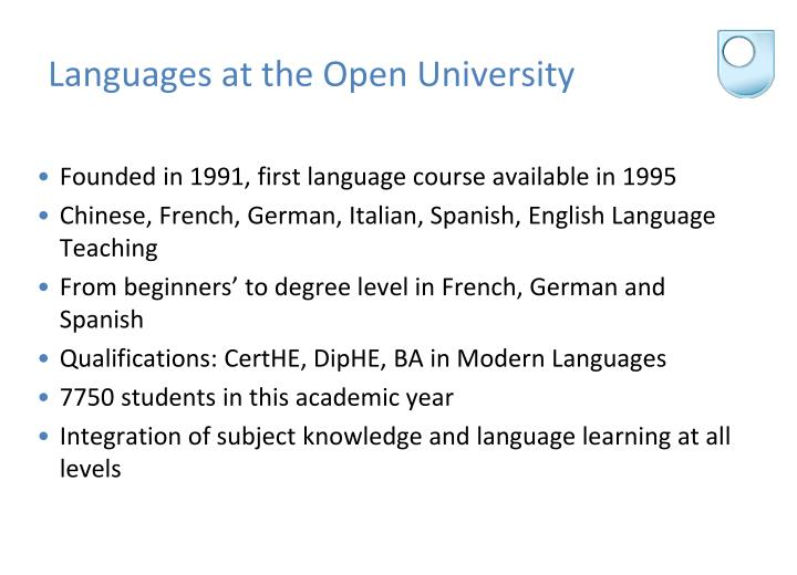 Languages at the Open University