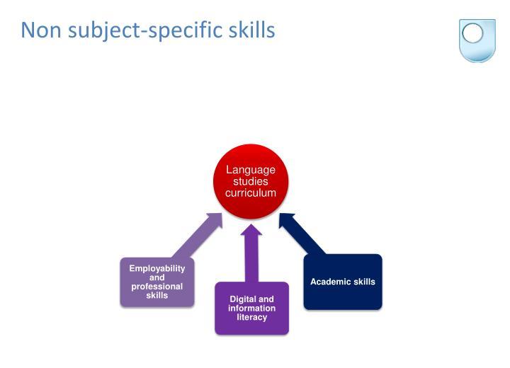 Non subject-specific skills