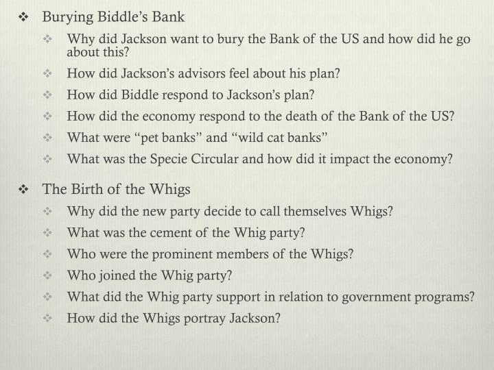 Burying Biddle's Bank