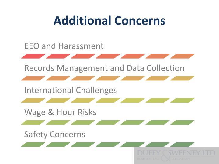 Additional Concerns
