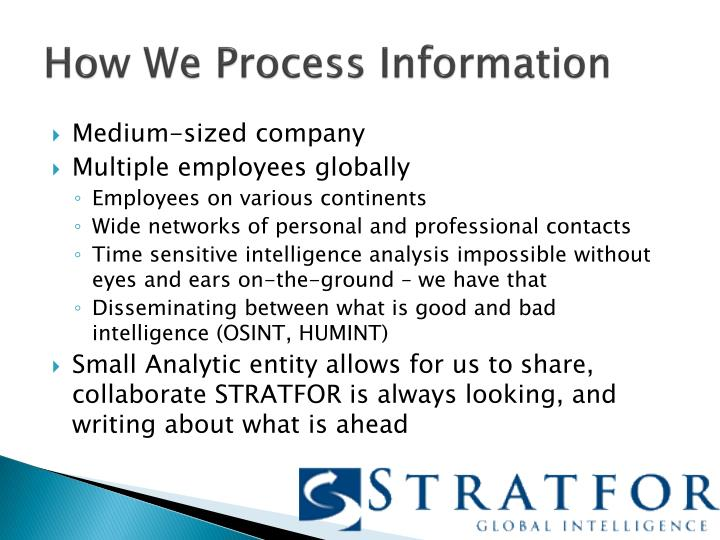 How We Process Information