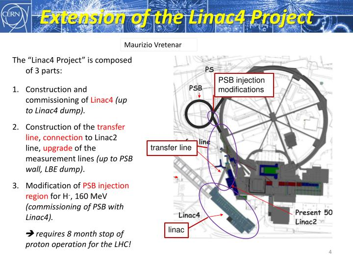 Extension of the Linac4 Project