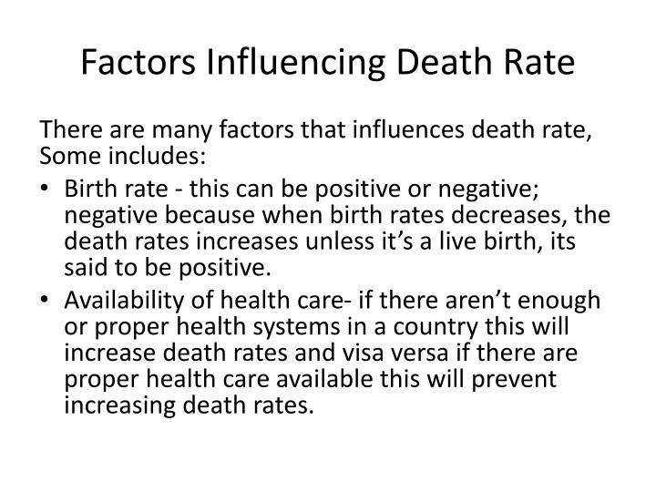 Factors Influencing Death Rate