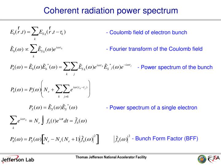 Coherent radiation power spectrum