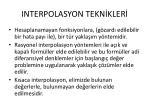 interpolasyon tekn kler