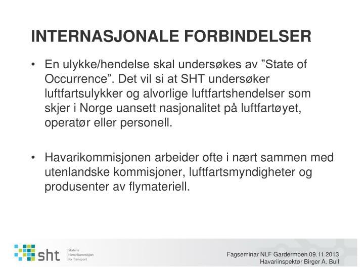 INTERNASJONALE FORBINDELSER