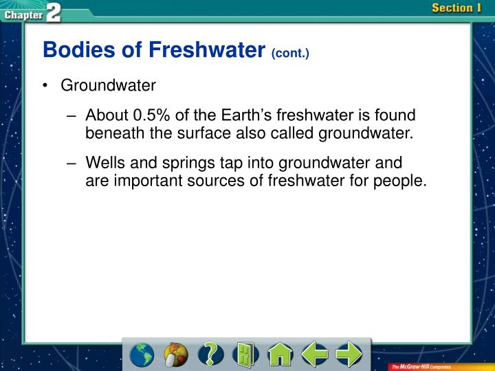 Bodies of Freshwater