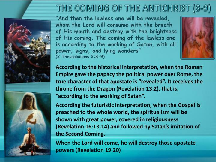 THE COMING OF THE ANTICHRIST
