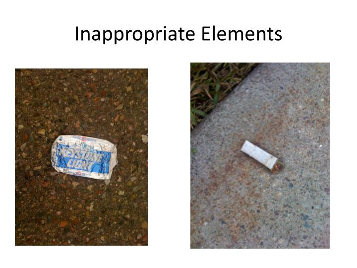 Inappropriate Elements