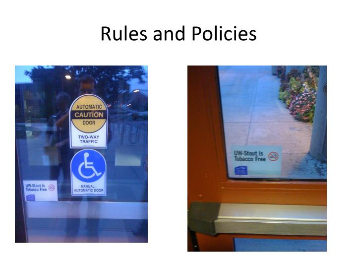 Rules and Policies