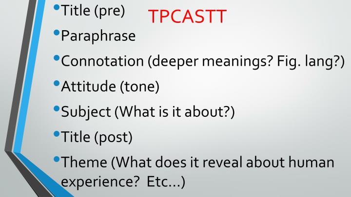 TPCASTT