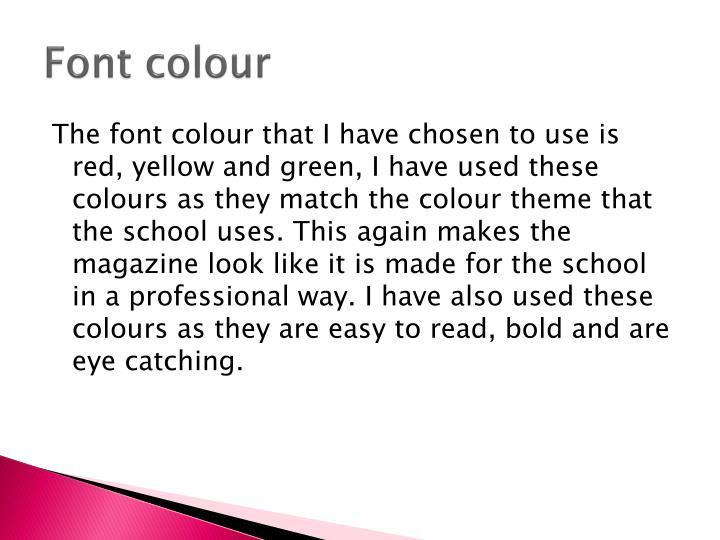 Font colour
