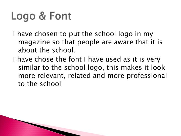 Logo & Font