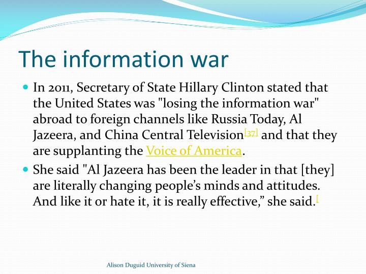 The information war