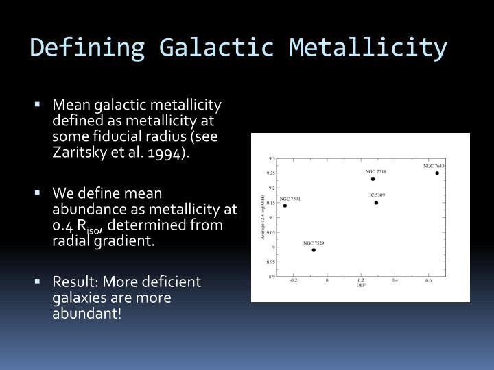 Defining Galactic