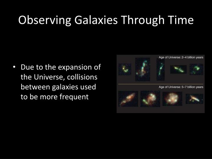 Observing Galaxies Through Time