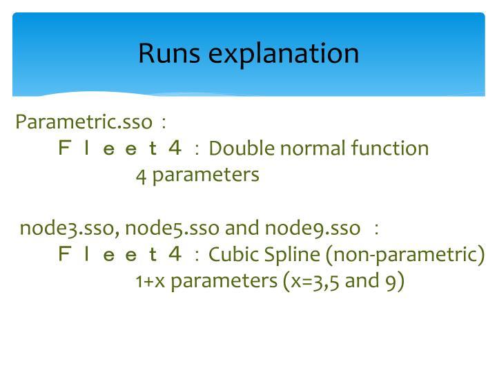 Runs explanation