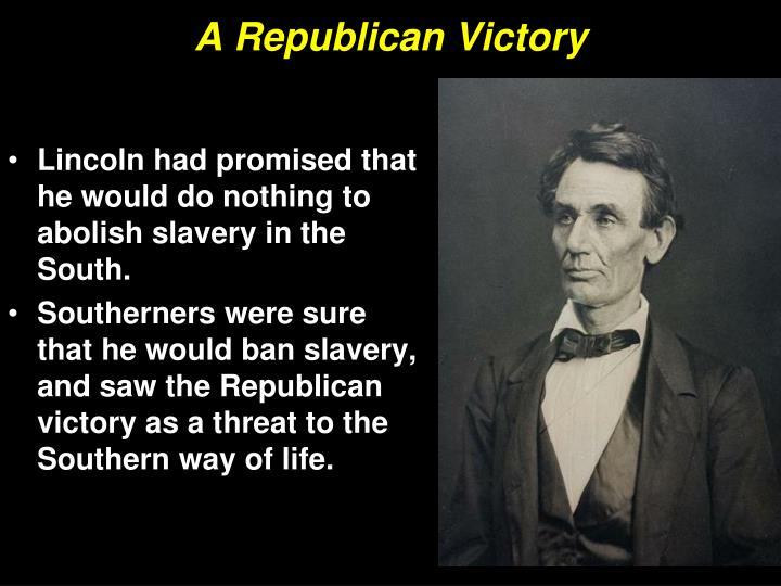 A Republican Victory
