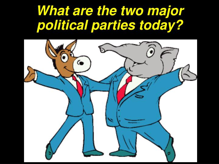 What are the two major political parties today