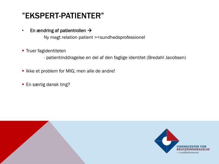 """""""ekspert-patienter"""""""